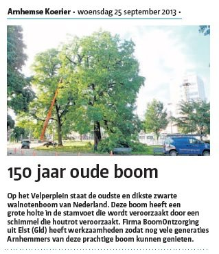 Krantenartikel Arnhemse Koerier